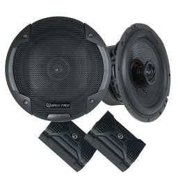 "BLACKSPL6.1 6.5"" 17cm 4Ohm Coaxial 2 Way Speaker Pair 370w RMS"