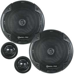 "BLACKSPL6C.1 6.5"" 17cm 4Ohm Component Speaker & Tweeter Kit 450w RMS"