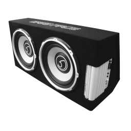 "POWER12.2 Twin 12"" 30cm 1300 RMS Subwoofer Unit With Integrated Class D 12v 360w RMS Power Amplifier"