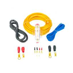 PWK8.1 8AWG 10mm High Flex 12v Amplifier Power Wiring Kit