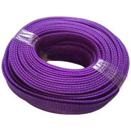 SLV.15 15mm Braided Cable Sleeve Solid Violet 20m Pack