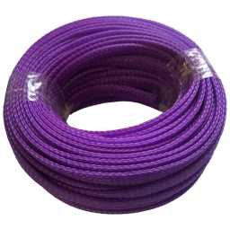 SLV.8 8mm Braided Cable Sleeve Solid Violet 20m Pack