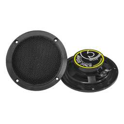 "SPL4.2B 4"" 10cm 4Ohm Waterproof Coaxial Speaker Pair 100w RMS Black"