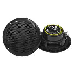 "SPL5.2B 5.25"" Inch 13cm 4Ohm Waterproof Coaxial Speaker Pair 125w RMS Black"