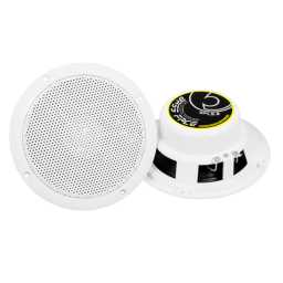 "SPL5.2 5.25"" 13cm 4Ohm Waterproof Coaxial Speaker Pair 125w RMS White"