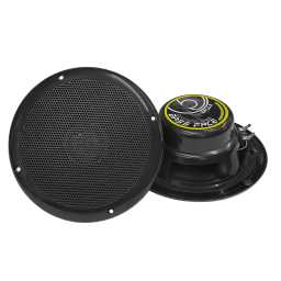 "SPL6.2B 6.5"" Inch 17cm 4Ohm Waterproof Coaxial Speaker Pair 150w RMS Black"