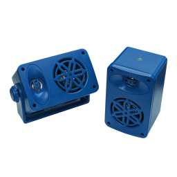 SPLBOX.4BL 4Ohm Waterproof Mini Box Speaker Pair 100w RMS Blue